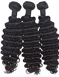 8-30inch Human Hair Extension Brazilian Virgin Hair Weaves 3pieces/lot  Deep Hair Weaves