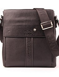 Men Shoulder Bag PU Casual Black Brown
