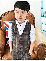 Cotton Ring Bearer Suit - 3 Pieces Includes  Jacket / Vest / Pants