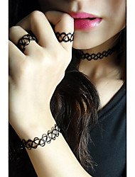 Schmuck Halsketten / Ringe / Armband Halskette / Armband / Halskette / Ring Modisch Alltag / Normal 1 Set Damen Schwarz Hochzeitsgeschenke