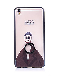 Leon - The Professional  Ring Holder Frosted /  Translucent / Embossed / TPU+PC for iPhone 6/6s/6plus/6s plus