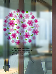 Window Film Window Decals Style Pandora Flowers Matte PVC Window Film - (60 x 58)cm