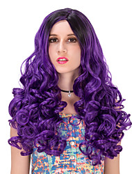 Purple black gradient wavy hair wigs.WIG LOLITA, Halloween Wig, color wig, fashion wig, natural wig, COSPLAY wig.