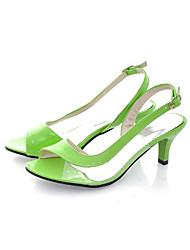 Women's Shoes  Stiletto Heel Heels/Open Toe Sandals Dress Black/Blue/Yellow/Green/Pink/White