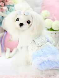 Dog Dress Blue / Pink Winter / Spring/Fall Solid Casual/Daily Dog Clothes / Dog Clothing-Other