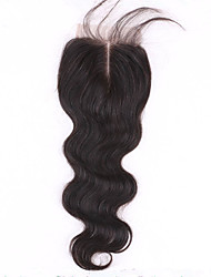 "1 Pc/Lot 8""-24"" Swiss Lace Top Closure Brazilian Hair 4""x4"" Size Lace Closure Body Wave"