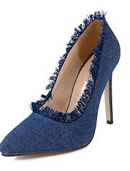 Feminino-Saltos-Saltos / Sapatos com Bolsa Combinando / Inovador / Botas Cano Curto / Gladiador / Plataforma Básica / Bico Fino / Botas