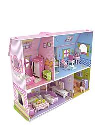 Double Deck Pink Princess Castle 3D Paper Cardboard Jigsaw Puzzle