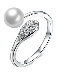 Lucky Doll Ring Unique Design Pearl Sterling Silver Zircon Jewelry For Birthday Business Gift Daily Office & Career 1 pc