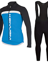 KEIYUEM®Spring/Summer/Autumn Long Sleeve Cycling Jersey+Long Bib Tights Ropa Ciclismo Cycling Clothing Suits #L90