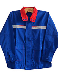 Electrostatic With Fluorescent Factory Working Clothing Gas Station Anti-Static Uniforms Long Sleeved Suit