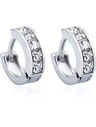 Rhinestone Silver Plated Gold Plated Alloy Fashion Geometric Gold Silver Jewelry Wedding Party Daily Casual Sports 1 pair