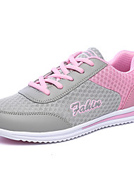 Summer Autumn Women's Ultra Breathable Mesh Running Shoes in Casual Style Female Lace-up Running Sneaker for Training