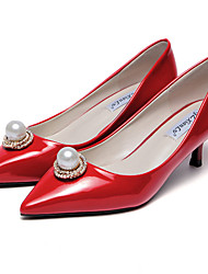 Women's Heels Spring / Fall Heels Leatherette Party & Evening / Dress Low Heel Imitation Pearl Others