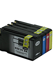 compatible avec les cartouches d'imprimante hp (volume d'encre), un groupe de quatre couleurs noir, rouge, jaune, bleu