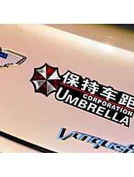 Biochemical Crisis Umbrella Stickers Car Stickers Personality In Car Keep Distance Warning Body Paste R457