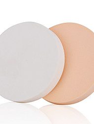 Houppette/Eponge Others 2 Rond 5.5cm Normal Blanc / Orange