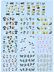 11 Designs Nail Art Halloween Stickers Pumpkin Lovely Animal Nail Beauty BLE917-927