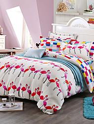 Print Bedlinen Fleece winter bedding set queen king size soft bedsheet pillowcase Duvet cover 4pcs bed set