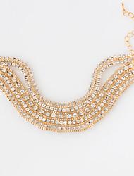 Bracelet Tennis Bracelet Alloy Circle Fashion Wedding Jewelry Gift Gold / White / Gray,1pc