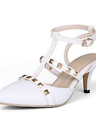 Damen-High Heels-Hochzeit Büro Lässig Party & Festivität Kleid-Kunststoff Lackleder Kunstleder-Stöckelabsatz-Komfort Neuheit Pumps-