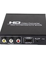 yunzuo черный HDMI к AV / CVBS / HDMI / HDMI + av.hdmi преобразователя