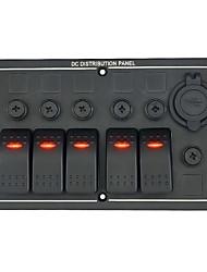 12-24v автомобиль, RV, лодка 3 одиночный угол света 5 выключатели с двойной USB автомобильное зарядное устройство сочетание металлической