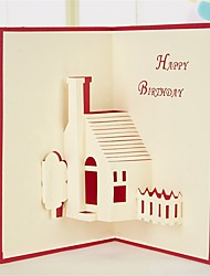 Paper Craft 3D Pop-up Greeting Card For Birthday