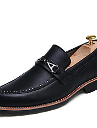 Men's Oxfords Casual/Office & Career/Office & Career Fashion Leatherette Flats Slip-ons Shoes