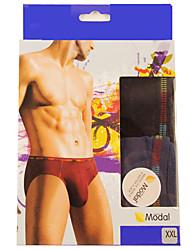 New Fashion Men's Cotton Underwear Health 3 Colour(2 Pcs/Box)