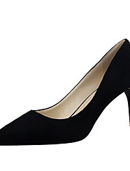 Women's Spikes Stilettos Solid Pull On Frosted Pointed Closed Toe Pumps-Shoes