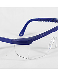 Blue Frame Retractable Safety Anti-Impact Medical Protective Goggles A Pack of Three