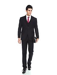 Costume(Bleu Foncé,Viscose / Laine et polyester / Polyester / Rayon (T / R),2 Pièces)Coupe Sur-Mesure