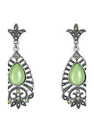 Gemstone Alloy Bohemian Birthstones Geometric Green Jewelry Wedding Party Daily Casual 1 pair