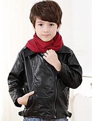 Boy's PU Spring/Autumn/Winter Fashion Fleece Lining Coat PU Jacket