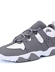 Da donna-Sneakers-Casual / Sportivo-Comoda-Plateau-PU (Poliuretano)-Nero / Rosso / Grigio