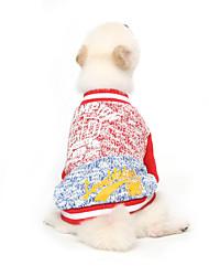 Katzen / Hunde Pullover Rot / Grün Hundekleidung Winter / Frühling/Herbst Buchstabe & Nummer Urlaub / Modisch