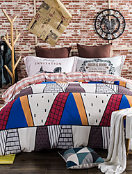 Hot sale 800TC bedding sets Queen King size Bedlinen printing sheets pillowcases Duvet cover sanding Cotton Fabric