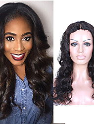 7A Peruvian Virgin Human Hair Body Wave U-Part Lace Front Wigs For Women Middle Part Lace Front Wigs