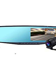 lente dupla espelho retrovisor gravador de condução duplo registro gravador de imagens invertendo 4,3 polegadas