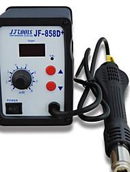 Station thermostat à souder de pistolet à air chaud numérique air chaud stubbs jf-858d + station de soudure outils de soudage