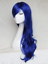 Cosplay Wig Blue Color Cast Long Curly Hair Wig 30Inch Points