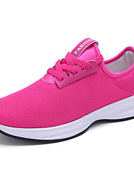 Women's Sneakers Comfort / Round Toe Tulle Outdoor / Athletic / Casual Flat Heel Others / Lace-up