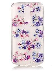 Floral Fit 3D Relief Feeling Super Soft Pack Transparent TPU Phone Case for LG K7/K8/K10