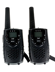 Durable Walkie Talkie With Earphone Jack UHF 462Mhz FRS/GMRS T667 Twin Walkie Talkie for Children  Up to 6Km(1 Pair Black)