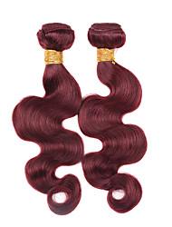 New! 2Pcs/Lot Brazilian Virgin Hair Weaves Body Wave #99J Virgin Hair Weave  Blonde Brazilian Natural Hair