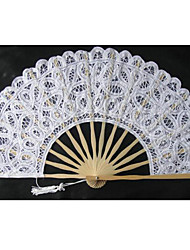 Noble Graceful Cotton Flower Edge Fan