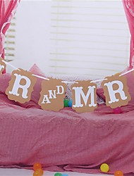 Party Banner Set 6Pcs For Wedding Party Mr and Mrs
