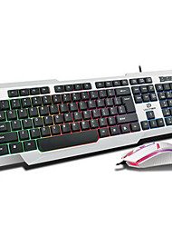 KM-300 1000Dpi Wired  USB Game Keyboard & Mouse Suit With LED