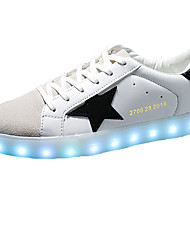 LED Light Up Shoes, Men's Shoes PU Casual Sneakers Casual Sneaker Flat Heel Others Black / Green